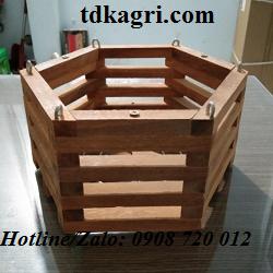 Chậu gỗ trồng lan lục giác 2