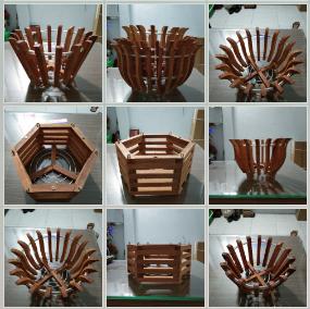 chậu gỗ trồng lan 2