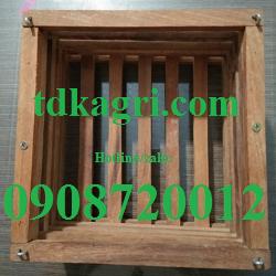 chậu gỗ trồng lan vuông 3