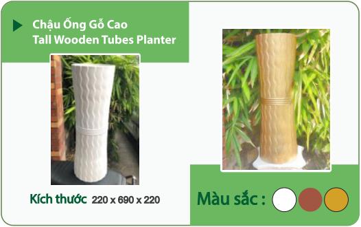 Chậu nhựa trồng cây CHẬU ỐNG GỖ CAO
