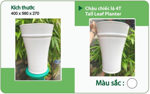 Chậu nhựa trồng cây CHẬU CHIẾC LÁ 4T