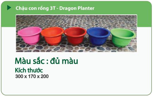 Chậu nhựa trồng cây CHẬU CON RỒNG 3T