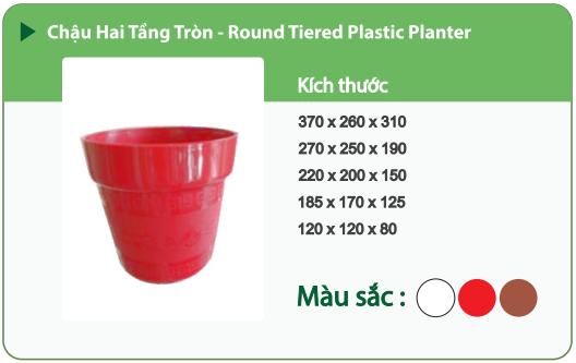 Chậu nhựa trồng cây CHẬU HAI TẦNG TRÒN