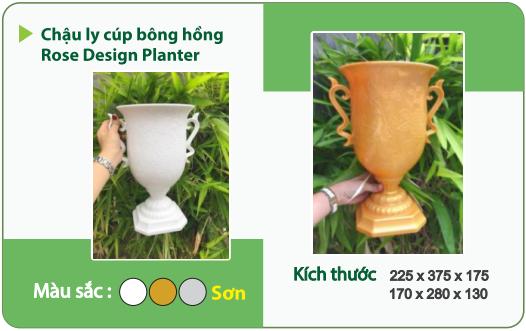 Chậu nhựa trồng cây CHẬU LY CÚP BÔNG HỒNG