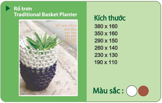 Chậu nhựa trồng cây CHẬU RỔ TRƠN