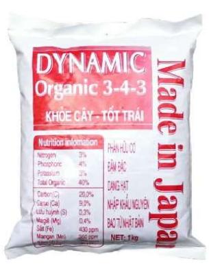 Phân hữu cơ DYNAMIC ORGANIC 3 4 3