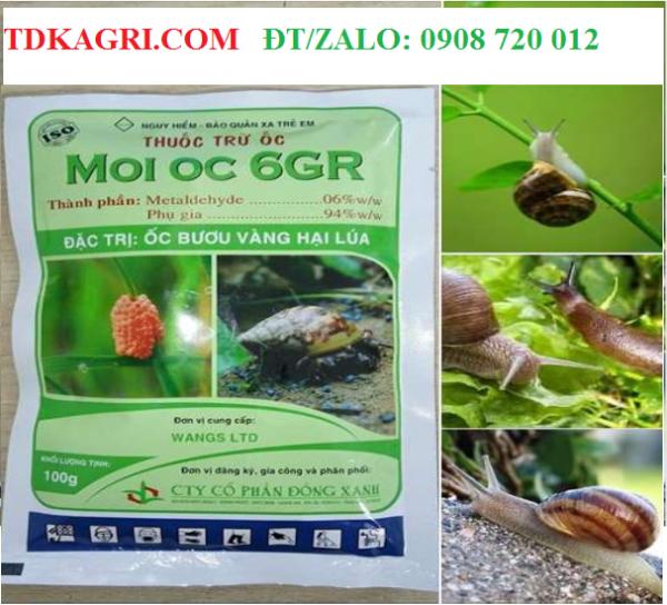 Thuốc trừ ốc MOI OC 6GR